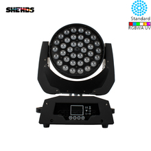 LED 36x18W RGBWA+UV Zoom Moving Head 6in1 Led Wash DMX512 Factory Directly Sale Dj Disco Stage Lighting Good For Party NightClub 2pcs lot mini led wash moving head 4x18w rgbwa uv dmx stage lights business high power with professional for party ktv disco dj