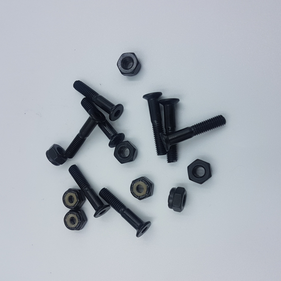 27mm Black Skateboard Screws Skateboard Bolts And Nuts Skateboard Hardwares
