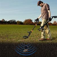 Detector de Metales subterráneo Detector de oro longitud de Metal ajustable buscador de tesoro Detector de caza portátil