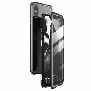 Image 2 - Luxury Case For Apple iPhone XS MAX XS X XR 7 8 Plus 360 Full Protection Case Magnetic Tempered Glass Aluminum Metal Case Cover