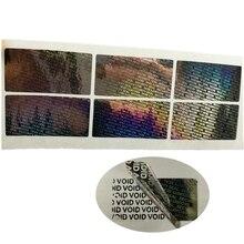 Étiquette autocollante inviolable hologramme