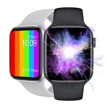 LEMFO W46 Smart Watch 1.75 pollici grande schermo ricarica Wireless ECG PPG carta da parati personalizzata Smartwatch IP68 impermeabile meglio di W26