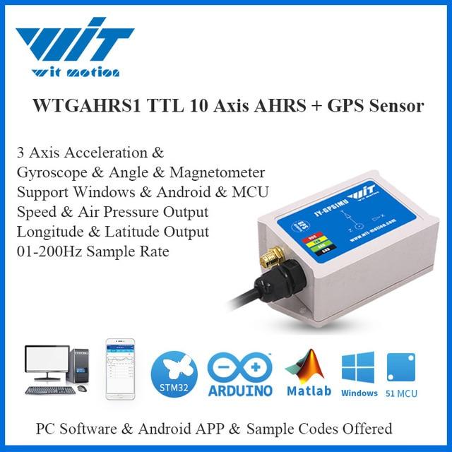 WitMotion WTGAHRS1 10 eksenli GPS navigasyon pozisyon hız izci sensörü ivmeölçer + Gyro + açı + manyetometre + barometre