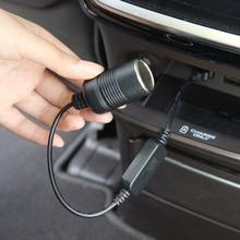 1PC Auto Converter Adapter Wired Controller USB Port 5V To 12V Car Cigarette Lighter Socket Power Cord For Power Bank DVR Plug