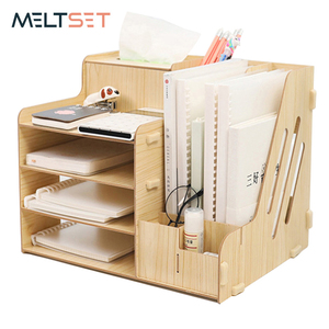 Office Desktop Storage Rack Shelf Wooden Storage Box Drawer for Sundries Books Cosmetic Dormitory Book Stand Desktop Organizer