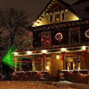Image 1 - Allaperto In Movimento Pieno Cielo star Di Natale Lampada Del Proiettore Laser Verde e Rosso Della Fase del LED Luce Esterna di Paesaggio Prato Luce del Giardino
