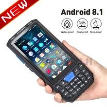 ทนทาน PDA อุตสาหกรรม Barcode Android 8.1 โทรศัพท์มือถือ 1D เลเซอร์ 2D QR Scanner Reader Handheld Data Collector Terminal PDA