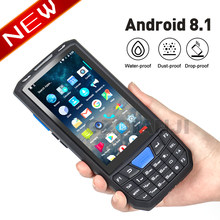 Rugged Industrial PDA Barcode Android 7.0 Mobile phone with 1d laser 2D QR Scanner Reader Handheld Data collector Terminal PDA(China)