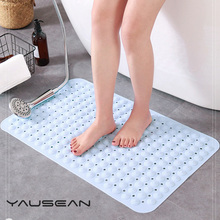 YAUSEAN Quality PVC Bathroom kitchen antislip mat Foot Massage pad bath Floor Mat Carpet For Toilet shower Bathtub non-slip mats