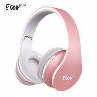 Eson Style Bluetooth Over ear Stereo Audio Music Headphones Handsfree Wireless Earphones For iPhone /HTC/ Nokia Foldable Headset