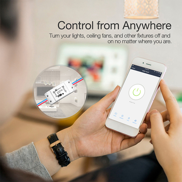Moes Universal Breaker Timer Smart Life APP Wireless Remote Control Works with Alexa Google Home DIY WiFi Smart Light Switch 3