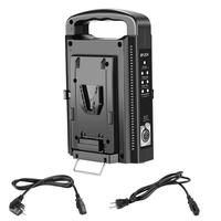 Neewer Dual Channel V Mount/V Lock Battery Charger with DC 16.5V Power Supply Output For Any V Mount Brick (Battery)