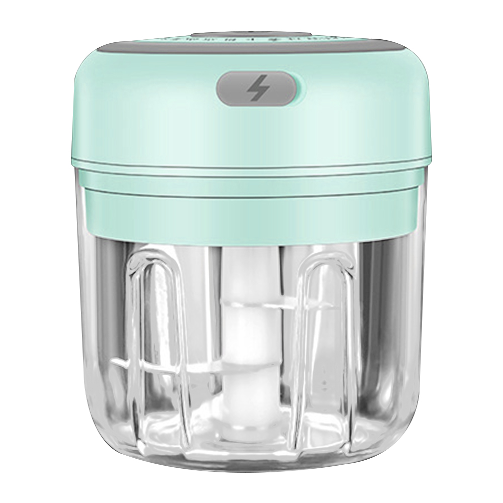 250ml-blue-3 blade-Electric Garlic Crusher Food Shredder Smart USB Baby Food Supplement Machine