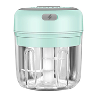 250ml-blue-3 blade-Electric Garlic Crusher Food Shredder Smart USB Baby Food Supplement Machine