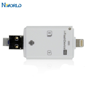 3 in 1 Smart sd Card Reader Laptop Accessories usb Card Reader With Micro sd Multimemory Stick For iPhone/ipad/ MAC/ PC/ Android