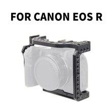 Câmera gaiola filme vídeo equipamento de filme estabilizador para canon eos r quadro completo ildc câmera + sapata fria montagem para braço mágico luz de vídeo