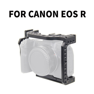Image 1 - Camera Cage Video Film Movie Rig Stabilizer for Canon EOS R Full Frame ILDC Camera+Cold Shoe Mount for Magic Arm Video Light