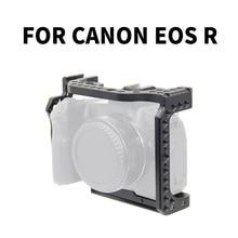 Kamera kafesi Video Film Film Rig sabitleyici Canon EOS R tam çerçeve ILDC kamera + soğuk ayakkabı dağı sihirli kol Video ışığı