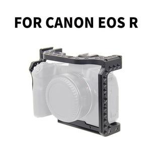 Image 1 - Kamera kafesi Video Film Film Rig sabitleyici Canon EOS R tam çerçeve ILDC kamera + soğuk ayakkabı dağı sihirli kol Video ışığı