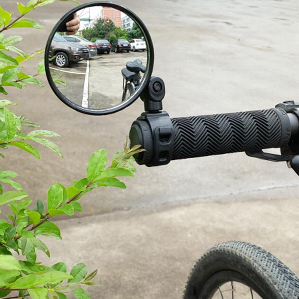 Sepeda Kaca Stang Cermin Bersepeda Belakang MTB Sepeda Pegangan Silikon Kaca Spion title=
