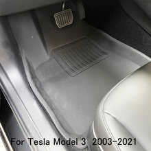Полное окружение специальный коврик для ног tesla model 3 автомобиля