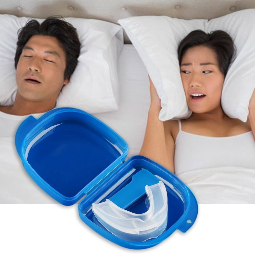Mouth Guard Stop Teeth Grinding Anti Snoring Bruxism With Case Box Sleep Aid Health Care Toiletry Kits!