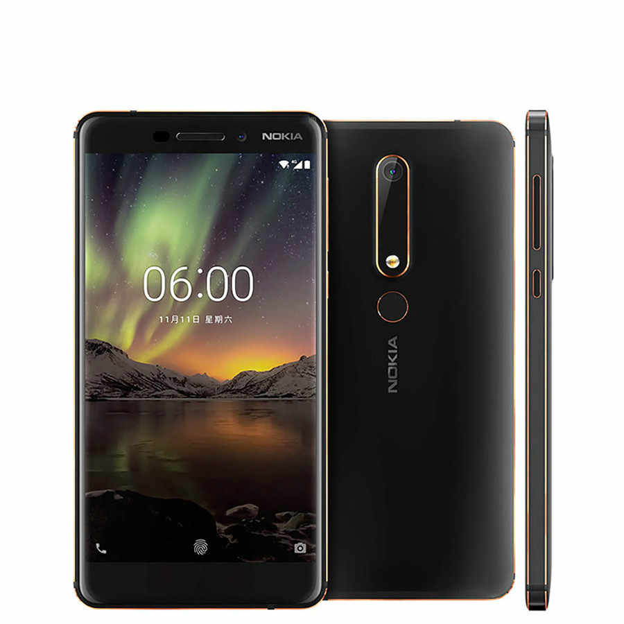 "Nokia 6.1 Version mondiale 4G SmartPhone Snapdragon 630 Octa core 5.5 ""3 GB 32GB 16MP 8MP téléphone portable"