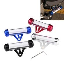 Мотоциклетный безопасный Налоговый диск для трубки цилиндрический держатель рамка водонепроницаемый налоговый держатель рамка налоговая трубка универсальные аксессуары для мотоциклов