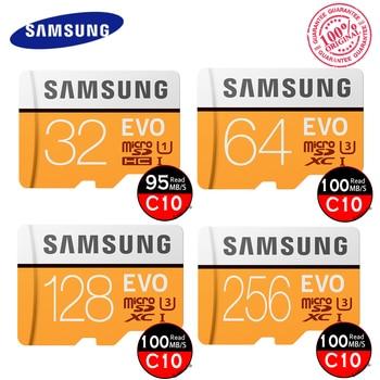 Original  SAMSUNG EVO Micro SD Card U3 Class10 tarjeta 64GB 128GB micro sd tf flash card cartao de memoria