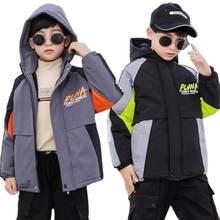Пальто для мальчиков осень зима толстая зимняя одежда на флисовой