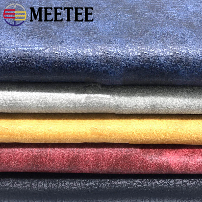 Meetee 100X138cm 1.2mm Thick Synthetic Leather Fabric  Pattern PU Leather Fabric DIY Sofa Seat Decor Material SL015|Synthetic Leather| |  - title=