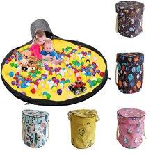 Tapete de armazenamento de brinquedos blocos de saco de brinquedo sacos de brincar esteira saco brinquedos slideaway limpeza e armazenamento recipiente organizador multifuncional 1.5m