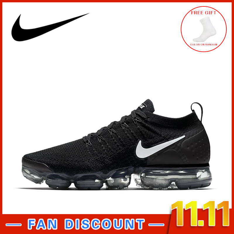 Original NIKE AIR VAPORMAX FLYKNIT 2.0 authentique homme sport en plein AIR chaussures de course respirant résistant baskets confortable 942842