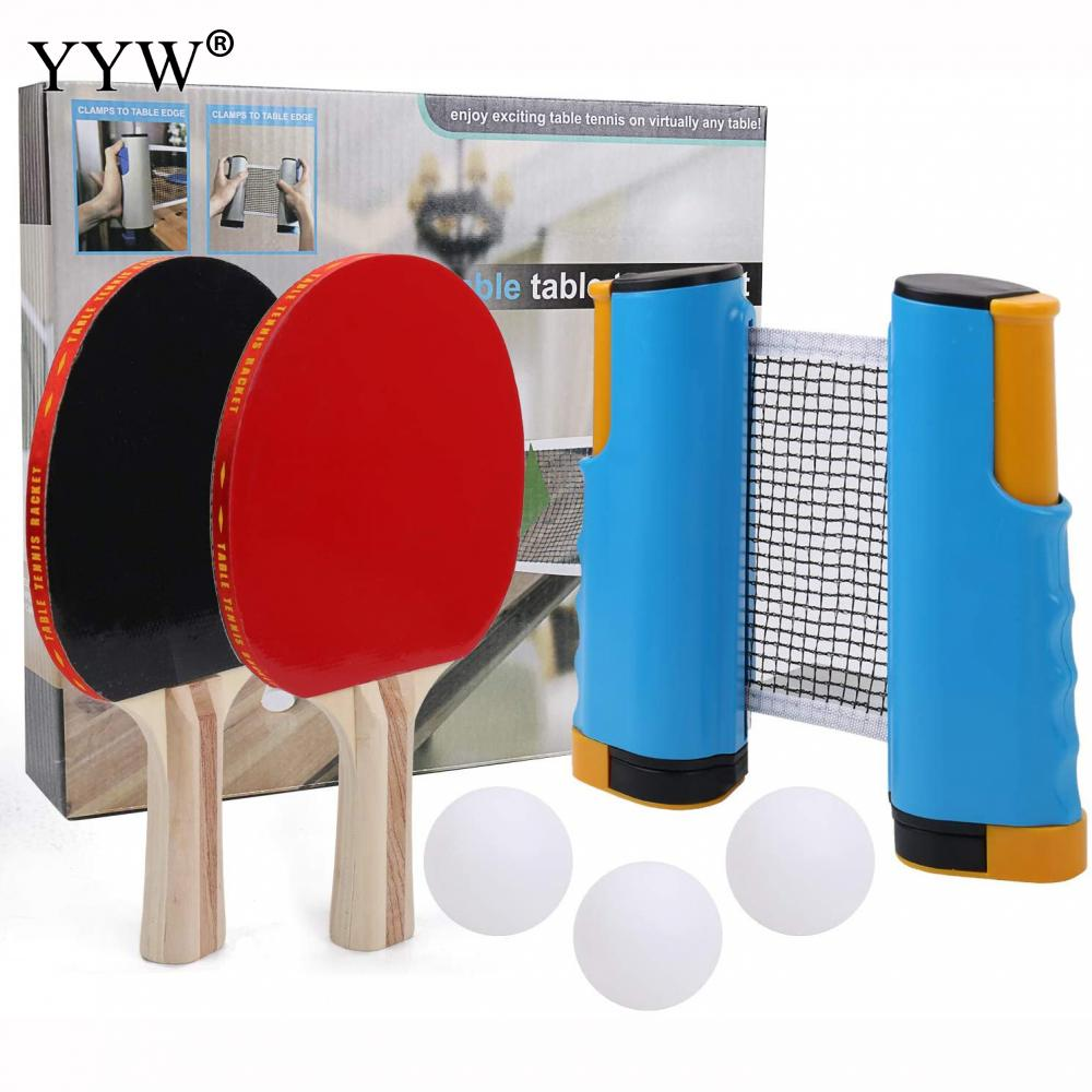 Купить с кэшбэком Portable Table Tennis Balls Net Rackets Retractable Strong Mesh Ping Pong Ball Post Rack Home Indoor Sports Fitness Equipment