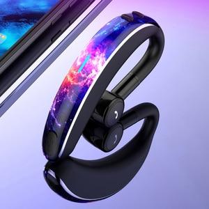 Беспроводные наушники с ушным крючком, Bluetooth, бизнес наушники, свободные руки, HD гарнитура, наушники с шумоподавлением, наушники с микрофоно...