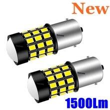 2 sztuk 1156 BA15s 7506 P21W R10W Super Bright 1500 lm LED samochodów Turn Signal światło hamowania Auto tylne żarówki światła dzienne