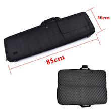 Купить с кэшбэком 85cm / 100cm Airsoft Paintball Hunting Air Rifle Gun Protection Bag With Padded Cushion Tactical Hunting Rifle Case Shoulder Bag