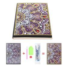 Bricolage Mandala spécial en forme de diamant peinture cahier A5 cahier 50 feuilles bricolage noël artisanat cadeaux pour les étudiants