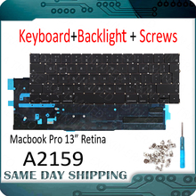 New Laptop A2159 Keyboard with Backlight English US UK EU for Apple MacBook Pro Retina 13.3\