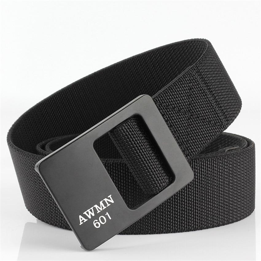Casual Men Belt Elastic Adjustable Outdoor Designer Belts For Jeans Pants Alloy Buckle Male Canvas Belt High Quality Waistband