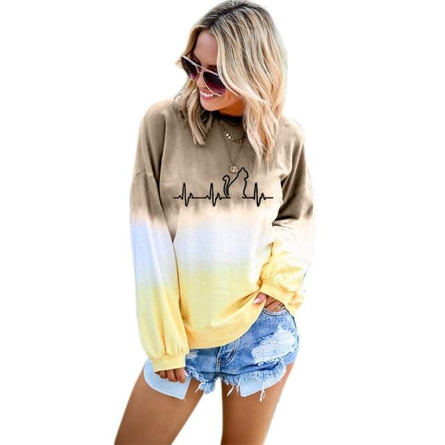 Printing Hoodies Women Long Sleeves Harajuku Hoodie Women Pullover Tracksuit Crop Tops Girls Streetwear Hoodied Plus Size
