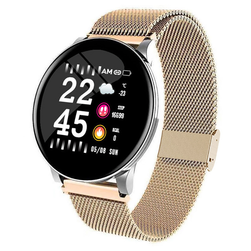 W8 Sport Smart Watch Bracelet Round Bluetooths Waterproof Male Smartwatch Men Women Fitness Tracker Wrist Band For Android IOS