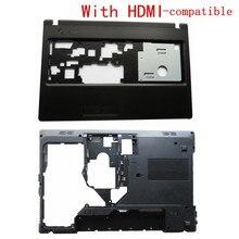 Novo escudo para lenovo g570 g575 g575gx g575ax caso inferior capa & palmrest capa superior com hdmi-compatível