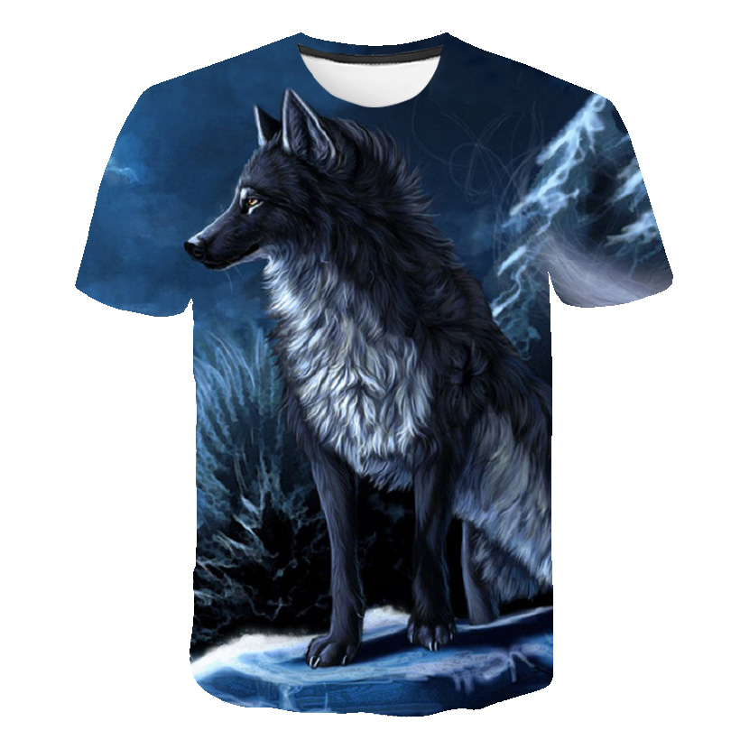 Newest Wolf 3D Print T Shirt Men Fashion Animal Cool Funny Short Sleeve Summer Tops Tshirt Male in T Shirts from Men 39 s Clothing