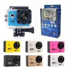 عمل كام الذهاب كاميرا رياضية 4 K اللاسلكية مع إرسال كامل HD العالمي مع جميع الملحقات 16MP دراجة مائية الرياضة