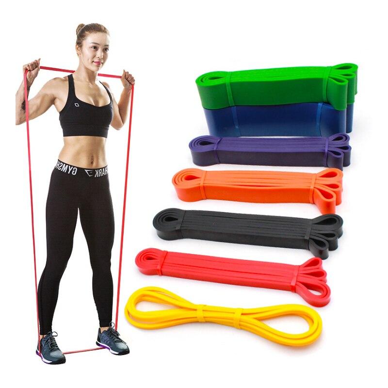 Bandas de resistencia, bandas largas de látex Natural, banda elástica para entrenamiento, entrenamiento para entrenamiento, equipo de Fitness