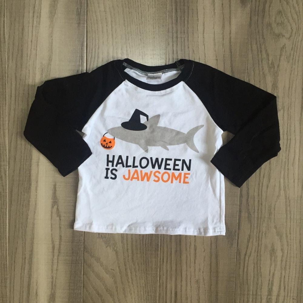 Jawsome Pumpkin Halloween Boutique FALL/WINTER Children T-Shirts Raglans-Wear Long-Sleeve