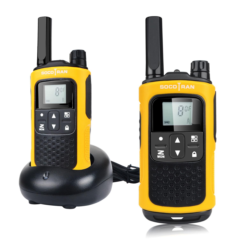 Двусторонняя радиостанция дальнего действия PMR446, перезаряжаемые рации без лицензии Socotran T80, 8 каналов, VOX, фонарик, аккумулятор, коды конфиде...