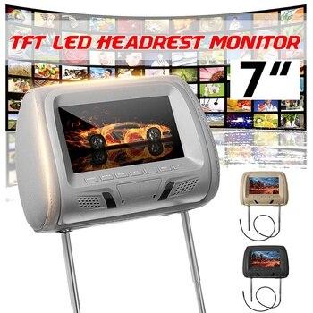 Универсальный 7-дюймовый TFT светодиодный экран, автомобильный монитор на подголовник, автомобильный ЖК MP5 мультимедийный плеер с поддержкой камеры AV + пульт дистанционного управления