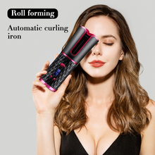 Cordless Automatic Hair Curler,Glynee Multi-Function Adjusta